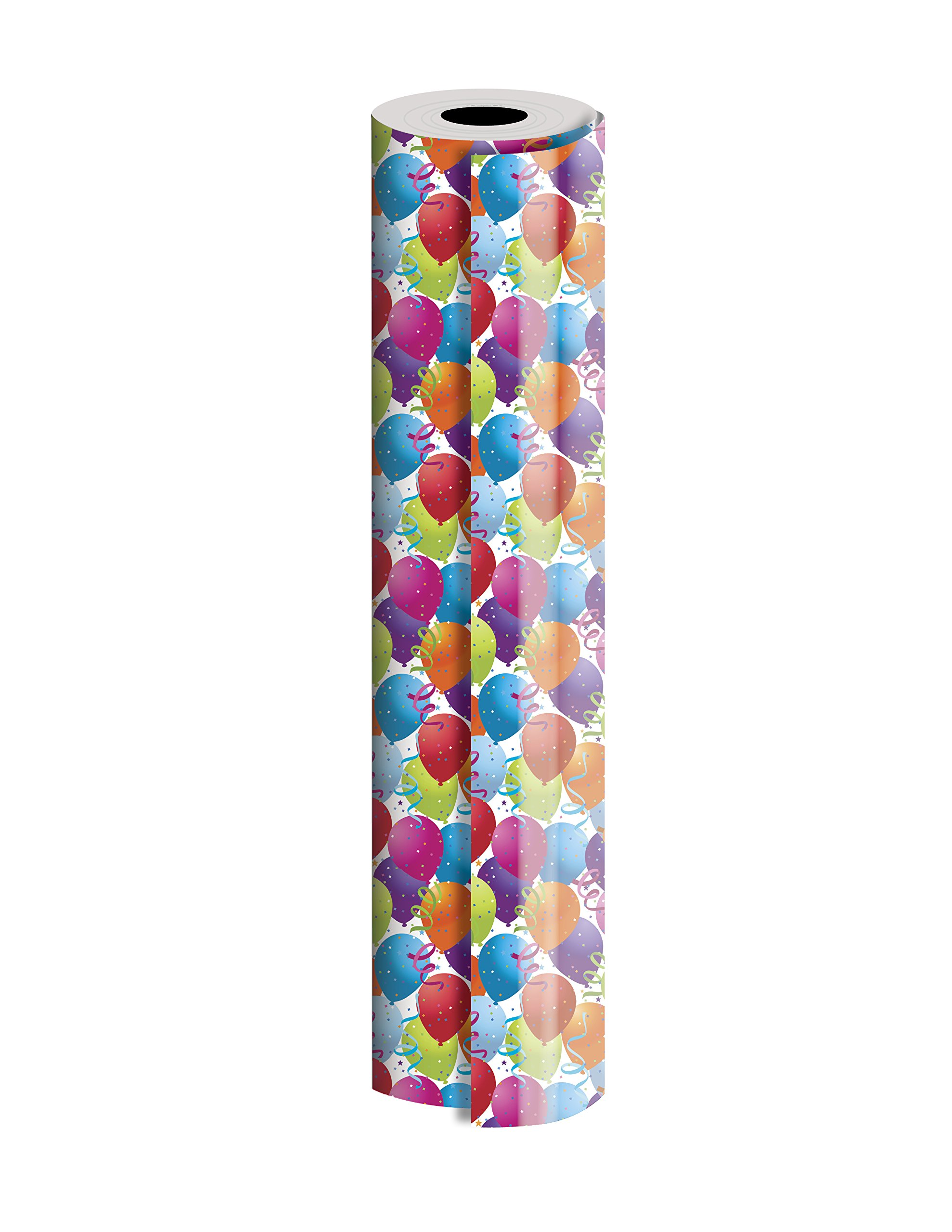 Jillson Roberts Bulk 1/4 Ream Gift Wrap Available in 14 Different Designs, 24'' x 208', Balloons