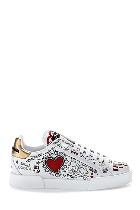 Dolce E Gabbana - Zapatillas para Mujer Weiß IT - Marke Größe, Color, Talla 36.5 IT - Marke Größe 36.5: Amazon.es: Zapatos y complementos