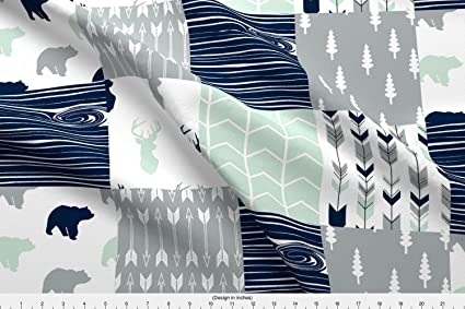 Madera Tela – del norte luces Patchwork Quilt Tela superior por littlearrowdesign – madera – Madera