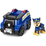 Paw Patrol PAW Patrol, Chase's Patrol Cruiser Vehicle with Collectible Figure, for Kids Aged 3 and Up