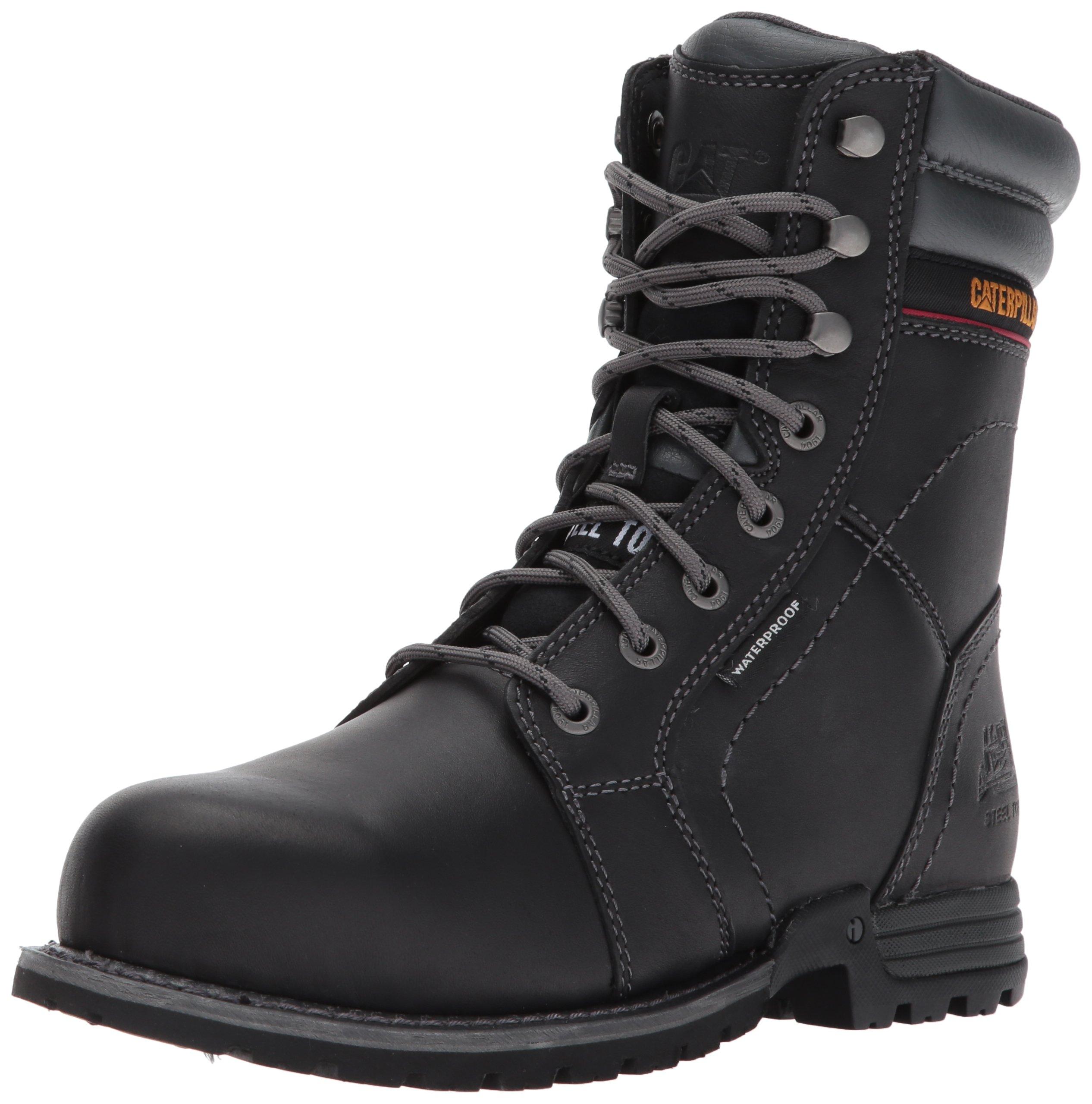 Caterpillar Women's Echo Waterproof Steel Toe Industrial and Construction Shoe, Black, 7.5 M US by Caterpillar