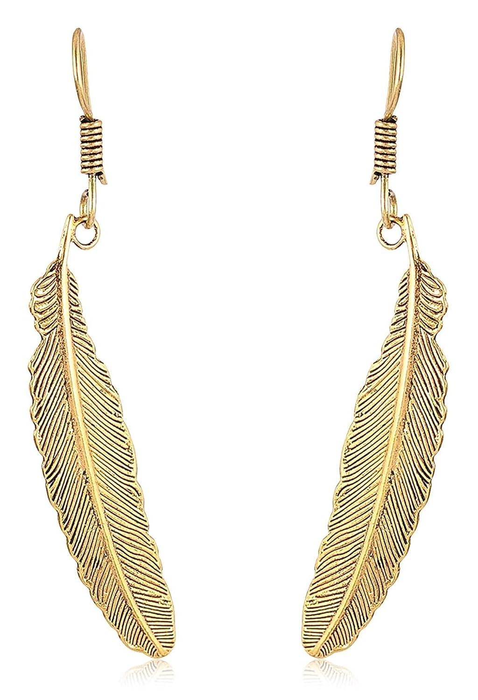 Subharpit Golden Pearl Golden Metal Non Precious Indian Ethnic Tratitional Dangle