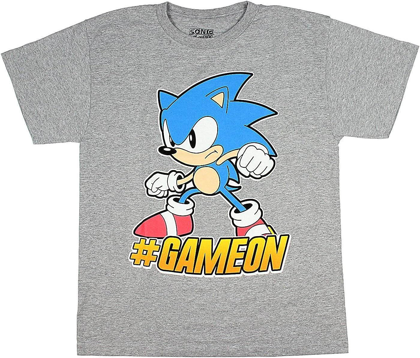 Sonic The Hedgehog #GameOn Sega Video Game Boys T-Shirt