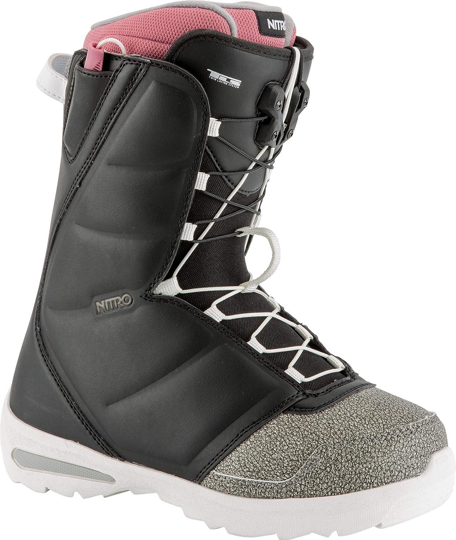 Black   Pink Nitro Snowboards Women's Flora TLS '18 Snowboard Boot, Womens, Flora TLS'18