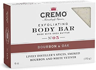 product image for Cremo Exfoliating Body Bar With Shea Butter - Bourbon & Oak, 6 ounce