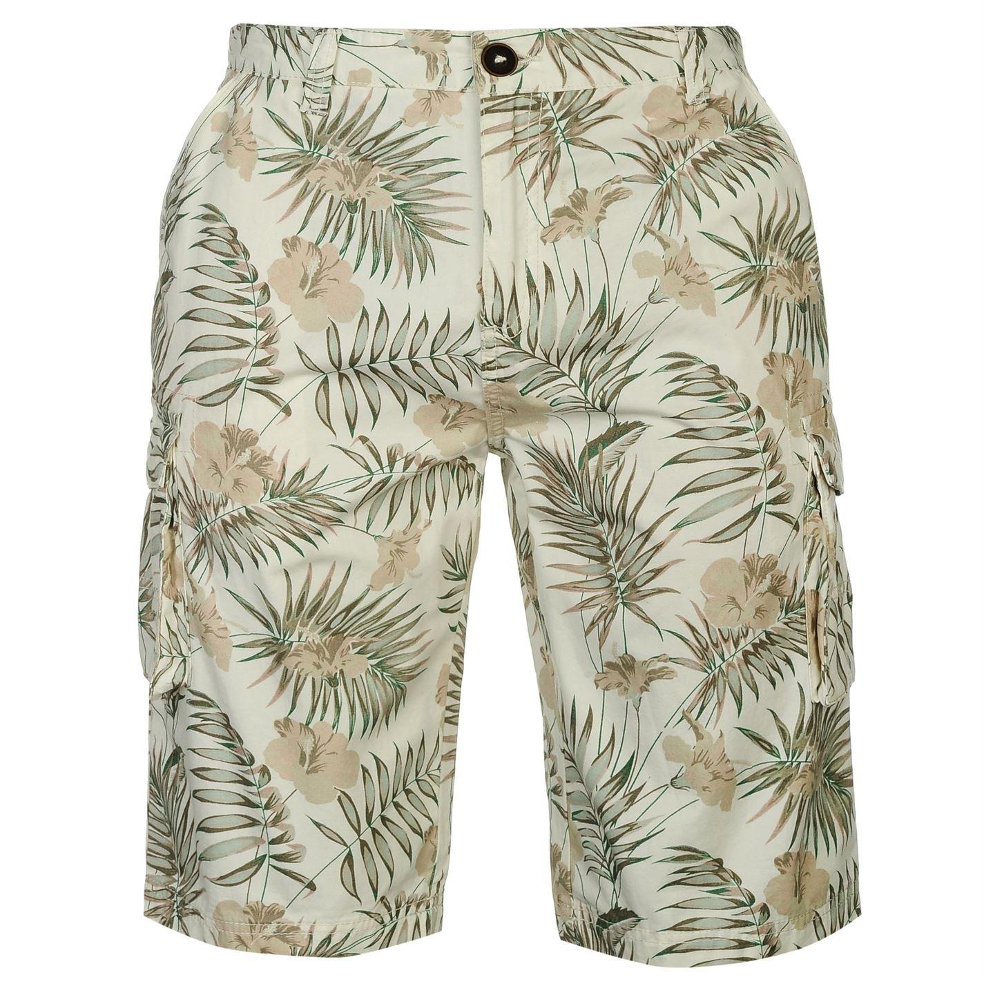 Pierre Cardin Hombres Pantalones Cortos Cargo Impresos 100% Algodón Verano Pequeño - XL Tallas Disponibles