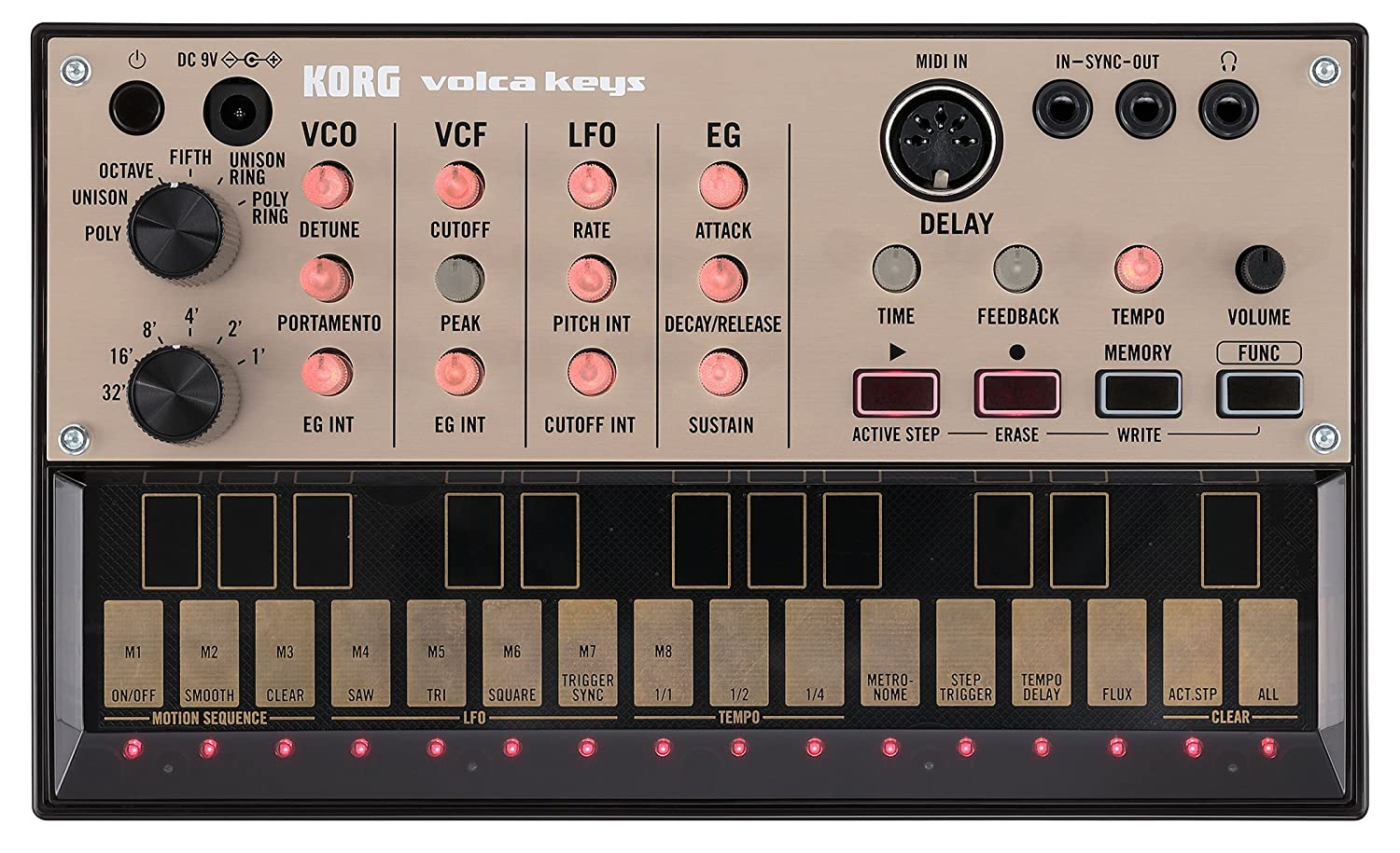 Korg VOLCA KEYS Analog Synthesizer mit Sequenzer (3-stimmig) VOLCAKEYS