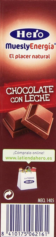 Hero Muesly Energia Barritas de Chocolate - Pack de 6 x 25 g - Total ...