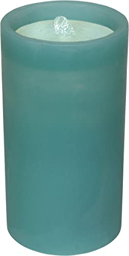 GKI Bethlehem Lighting Aquaflame Outdoor Flameless Candle Fountain with Remote, Teal 82650