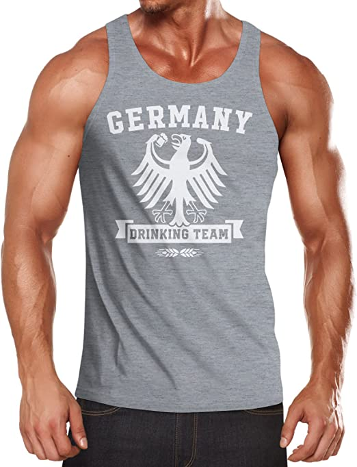 MoonWorks Lustiges WM Herren T-Shirt Germany Drinking Team Deutschland Fan-Shirt