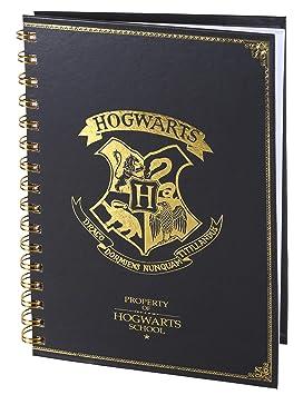 Cuaderno de espiral A5 Harry Potter color negro: Amazon.es ...
