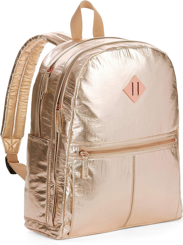 Rose Gold Crinkle Dome Backpack