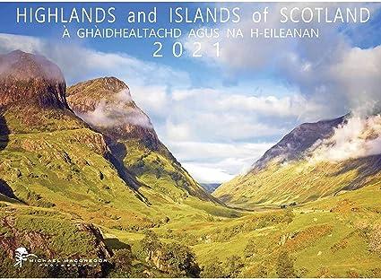 SCOTTISH HIGHLANDS ISLANDS A4 CALENDAR 2