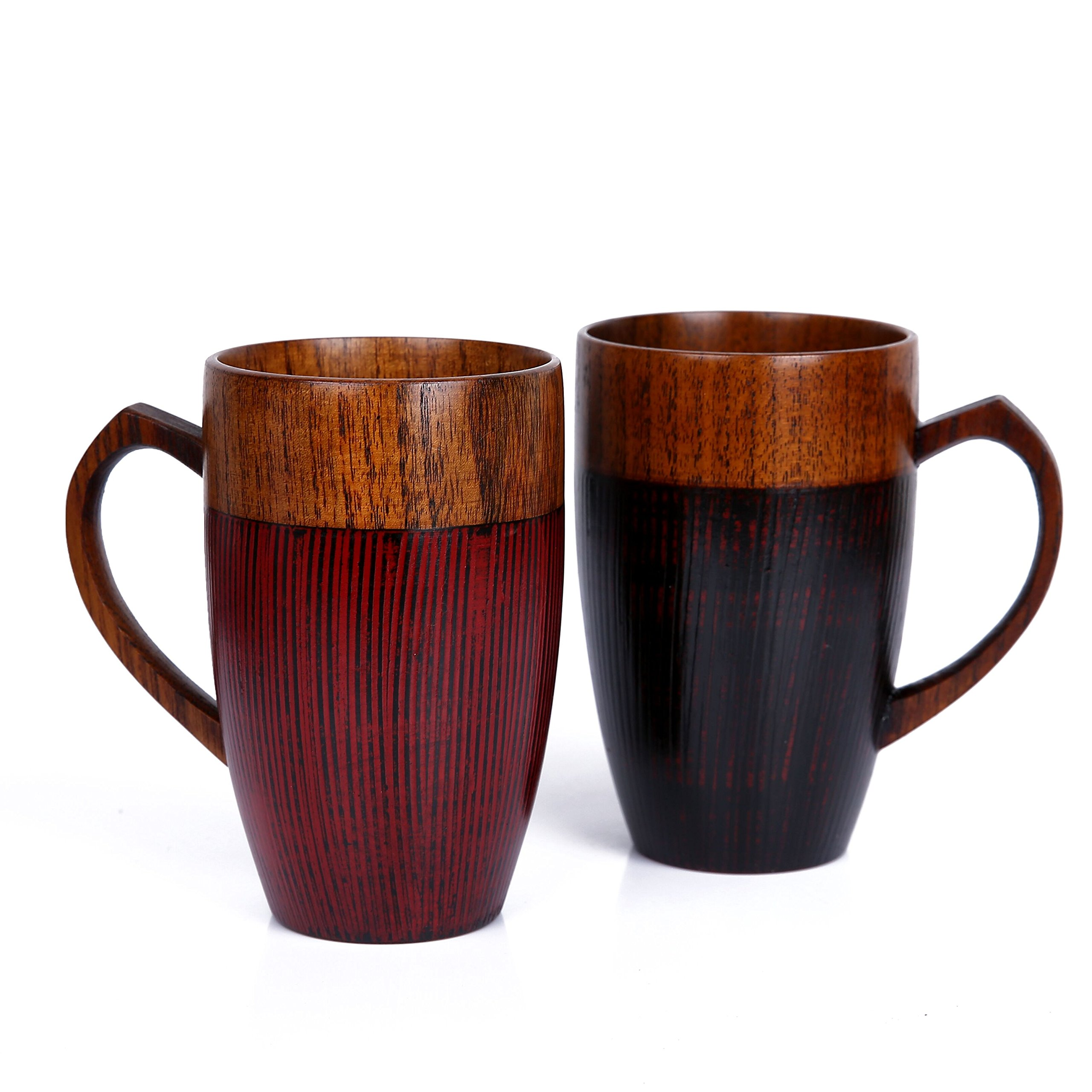 WOOD MEETS COLOR Mug Cup Handmade Wood with Heart Handle(Black 10 OZ) by WOOD MEETS COLOR (Image #2)