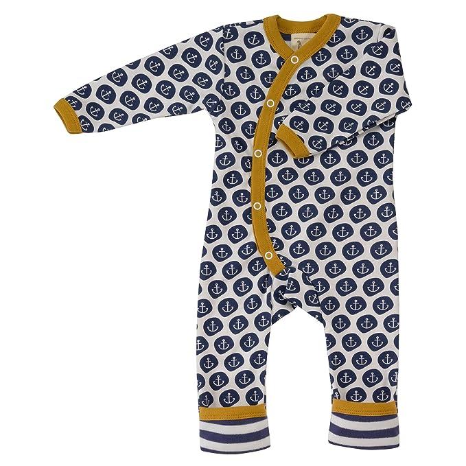 Pigeon Organics for Kids Pelele Pijama de algodón ecológico GOTS Ancla, color azul azul