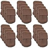 Rienar 24pcs Polyester Furniture Socks/ Chair Leg Floor Protector,Coffee