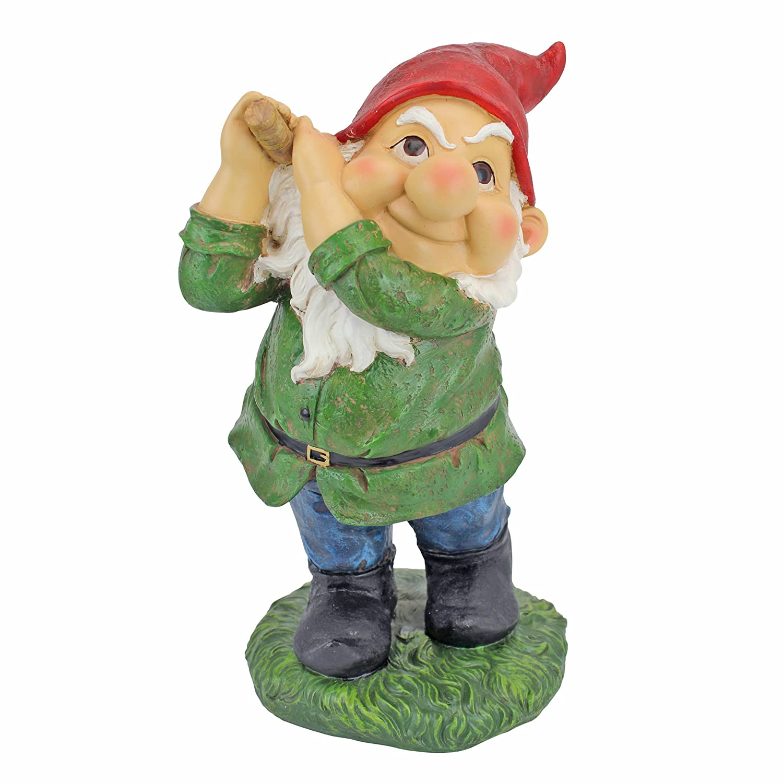 Amazon.com : Golfing Garden Gnome Statue - Bogey Burt - Outdoor ...