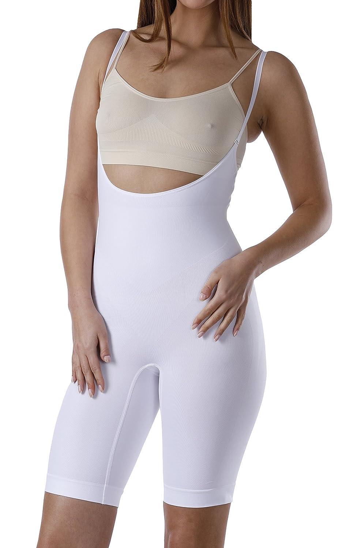 YENITA Bodysuit Open Bust, Compression Bodyshaper, shapewear Tummy-Bum-Thigh Control 3426