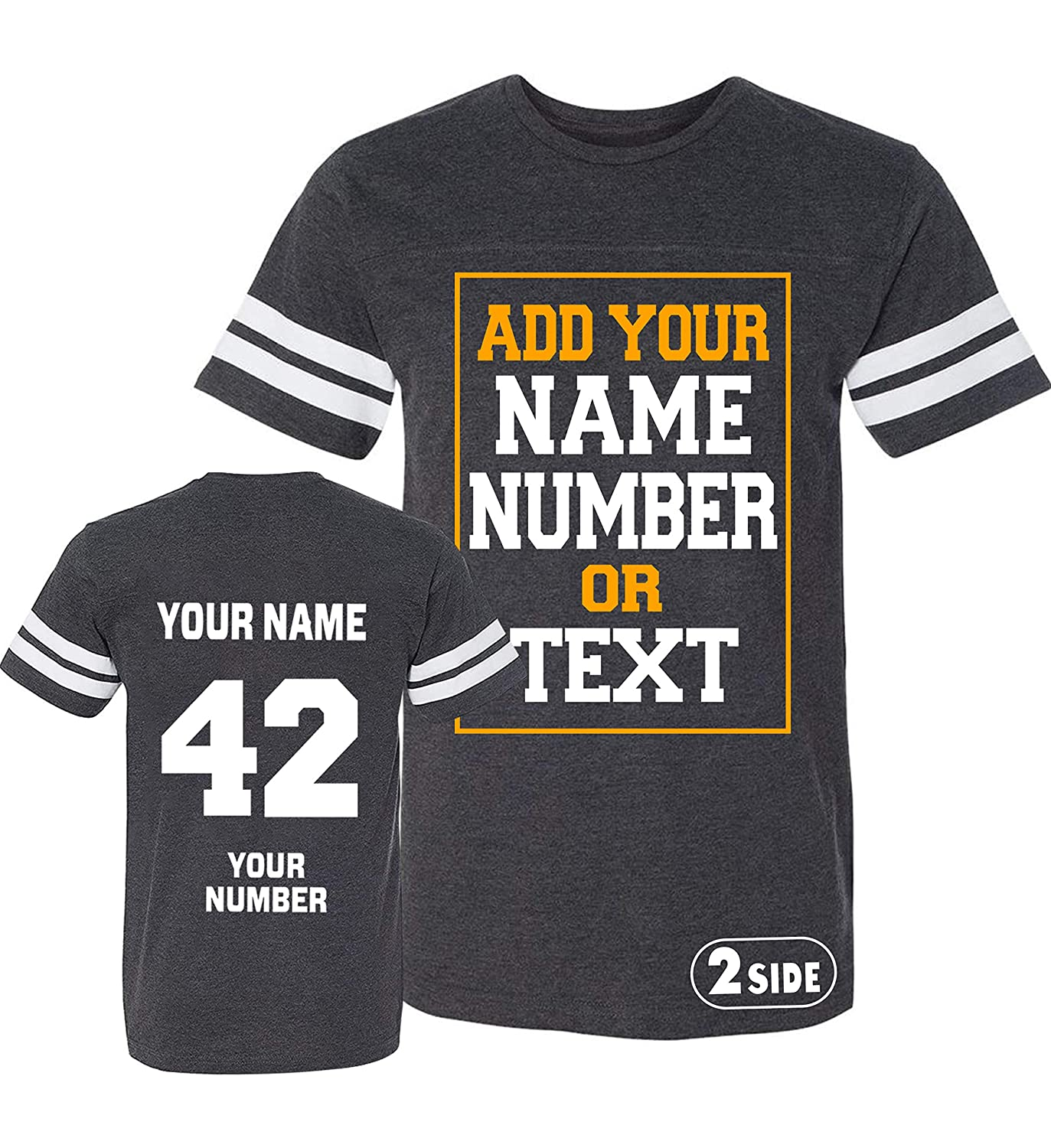 796a1d864 Amazon.com: TEEAMORE Men Custom Jersey, Add Your Text, Design Your Own,  Front and Back Side: Clothing