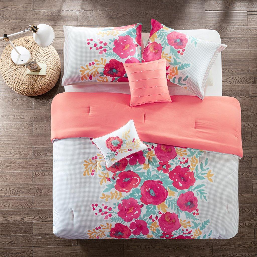 Intelligent Design Elodie Comforter Set Coral Full//Queen ID10-1131
