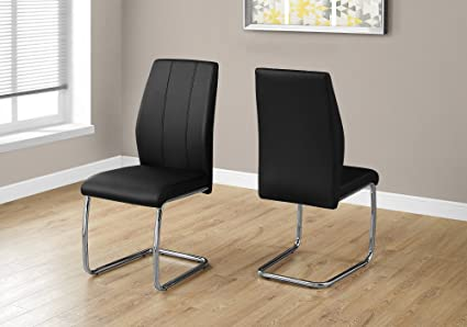 Merveilleux Monarch Specialties I 1076 2 Piece Dining Chair 2PCS/39 H Leather Look