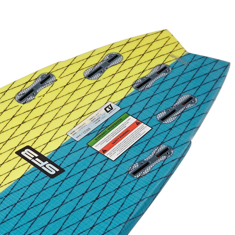 7S Super Fish 3 Carbon Vector - Tabla de surf (6ft6), color amarillo: Amazon.es: Deportes y aire libre