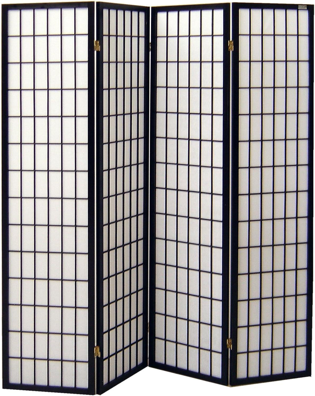 Cinius Pantalla de Madera y Papel de arroz con 4 Puertas. Modelo ...