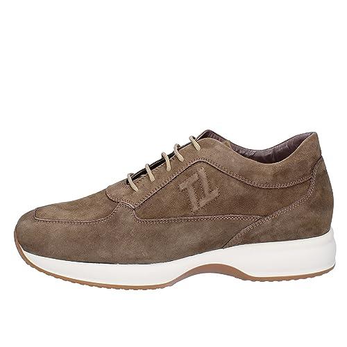 b27f8eec9569e TRIVER FLIGHT Sneaker Uomo Pelle Scamosciata Marrone  Amazon.it  Scarpe e  borse