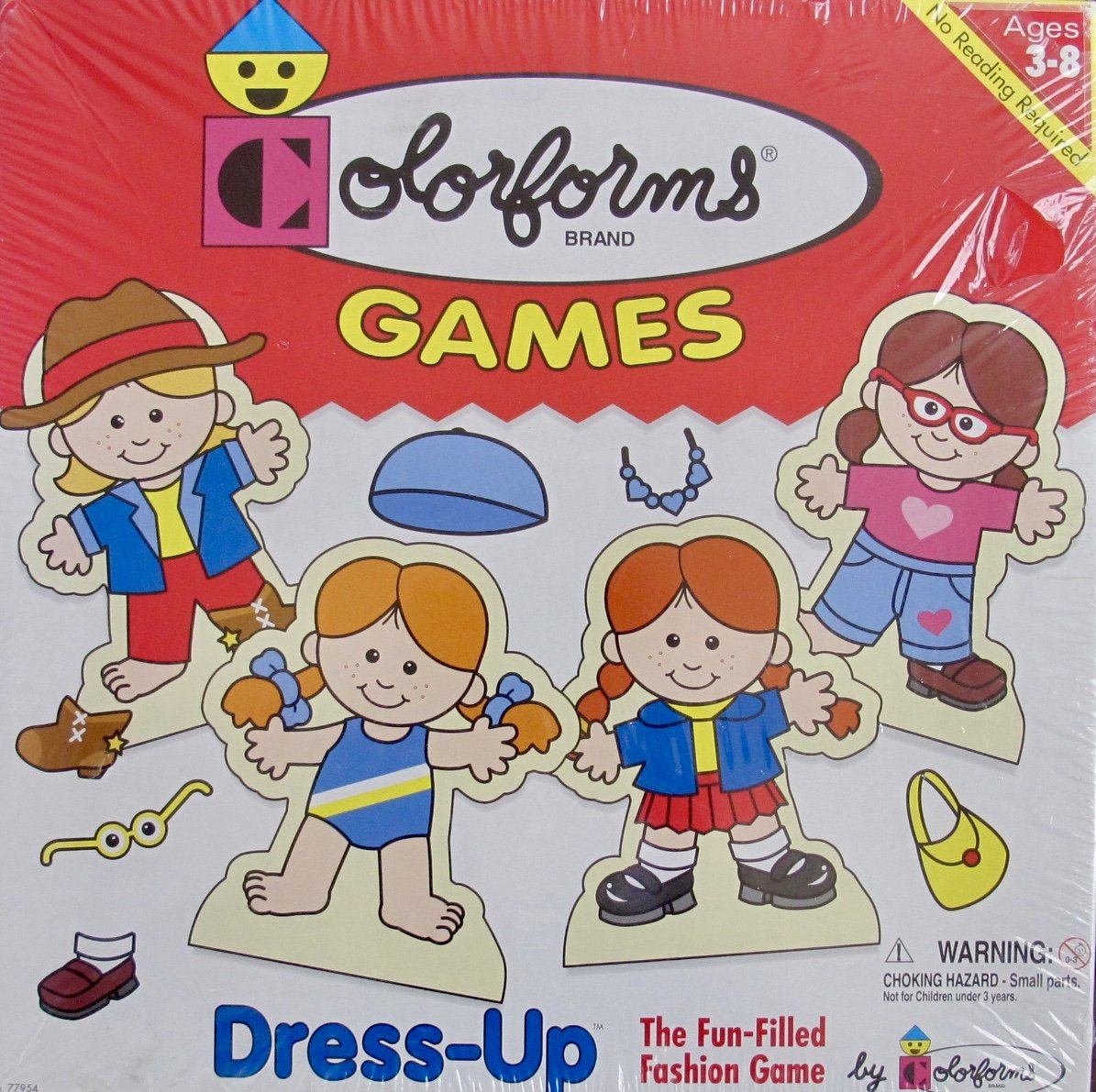 COLORFORMS Brand 'FASHION' DRESS UP GAME w NO Reading Required (1998 Made in USA)   B01MSJGG0R