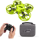 Dwi Dowellin 2.7 Inch Mini Drone for Kids One Key Take Off Landing Spin Flips RC Small Drones for Beginners Boys and Girls Na