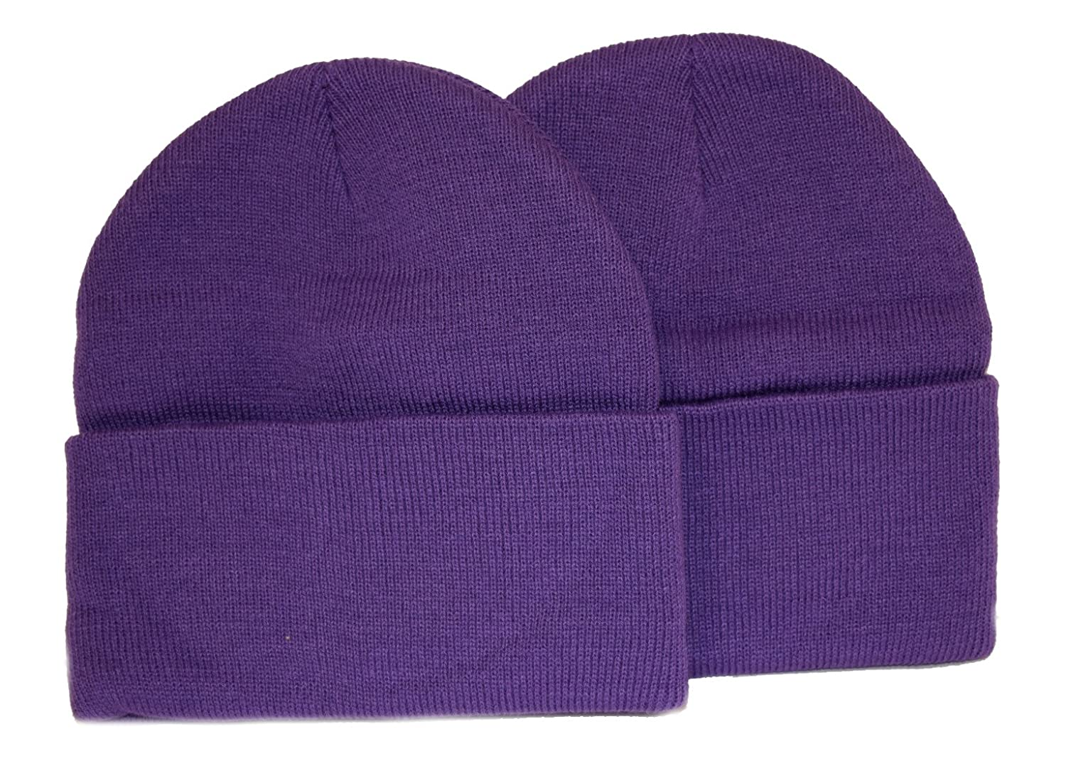 Holiday Deals! 2 Pack Knit Beanies / Purple / Great Price!