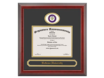 Amazon.com: Signature Announcements Bellevue University (BU ...