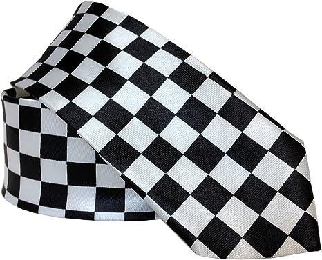 Corbata con patrón de cuadros en blanco y negro: Amazon.es: Ropa y ...