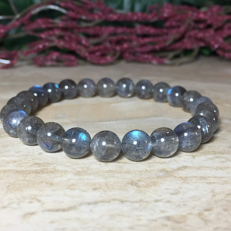 Promotes psychic abilities Protection Balances and protects the aura Calming 8mm Natural Labradorite Bracelet Labradorite Bracelet