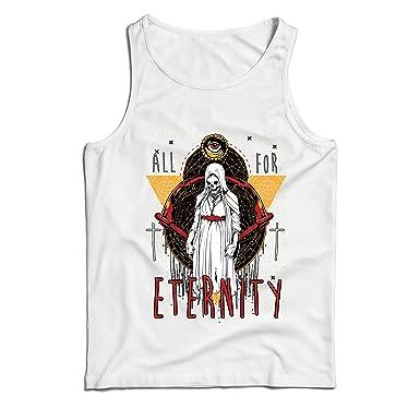 lepni.me Camisetas de Tirantes para Hombre Todo por la eternidad, Esqueleto, Halloween