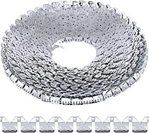 Rustark 65 ft Flexible Metal Tack Strip Three-Tooth Upholstery Premium Heavy Duty Curve Ease Grip for Furniture, Chairs, Sofa, Bed Repair