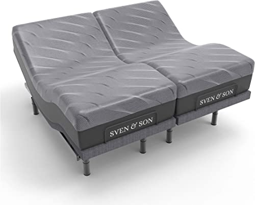 Sven Son Split King Adjustable Bed Base Frame Head Tilt 14 Luxury Cool Gel Memory Foam Mattre