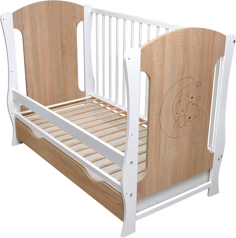 Sonoma Mond - Cuna infantil (120 x 60 cm, con cajón), diseño de ositos