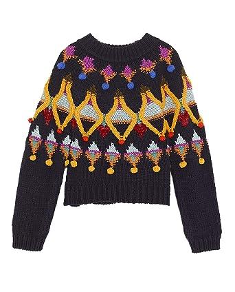 En Femme 3653101 Borderies Amazon À Pull Maille Pwswop Zara Multicolores LR534jA