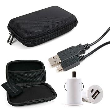 DURAGADGET Kit Estuche/Funda Rígida para Navegador GPS + ...