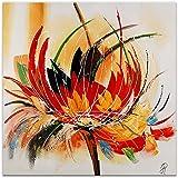 Arte dal Mondo AS315X1 Fleur Abstraite Tableau Moderne Peint à la Main sur Toile avec Châssis Multicolore 80 x 80 x 3,5 cm