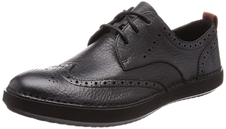 Clarks Komuter Run, Zapatos de Cordones Derby para Hombre 40 EU|Negro (Blk Tumbled Lea)