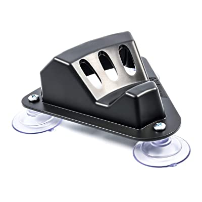 Camco 45506 Black Triple Flag Holder Suction Cup Mount: Automotive
