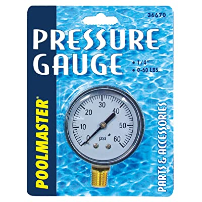 Poolmaster 36670 Pressure Gauge for Swimming Pool or Spa Filter, 1/4-Inch, Bottom Mounted Thread : Swimming Pool Pump Accessories : Garden & Outdoor