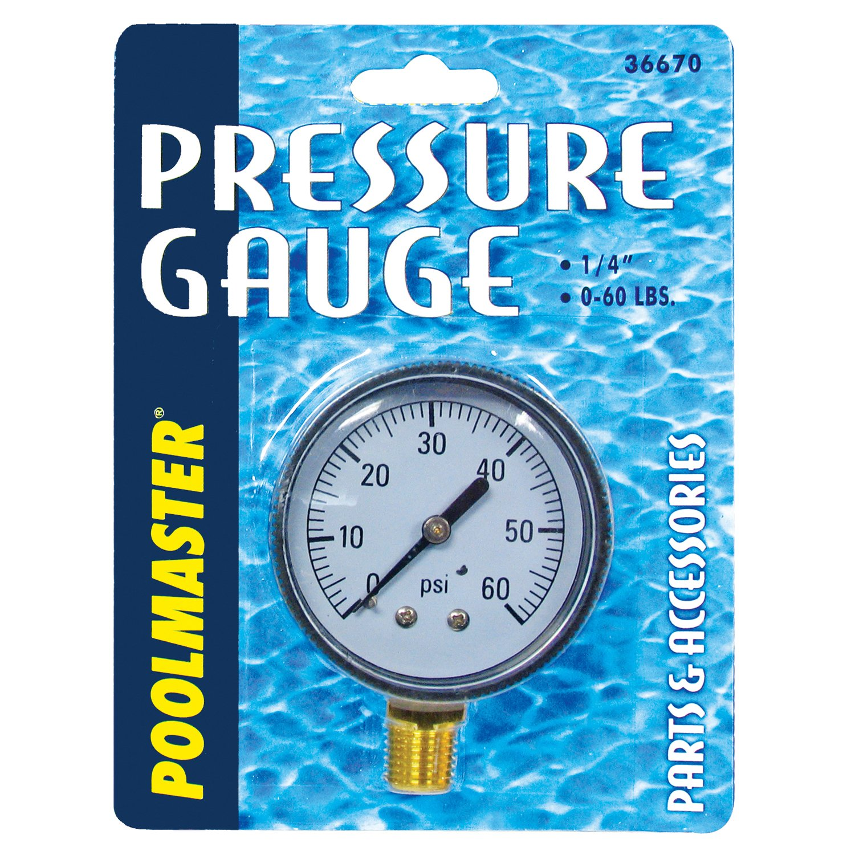 Poolmaster 36670 Pressure Gauge 1 4 Bottom Mount Thread