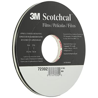 3M 72302 Black Striping Tape-5/16 Double 150' Roll: Automotive
