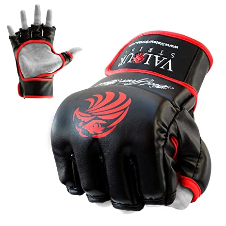 New MMA Grappling Gloves UFC Fight Glove Boxing Cage Kick Mitts Fighter Gear