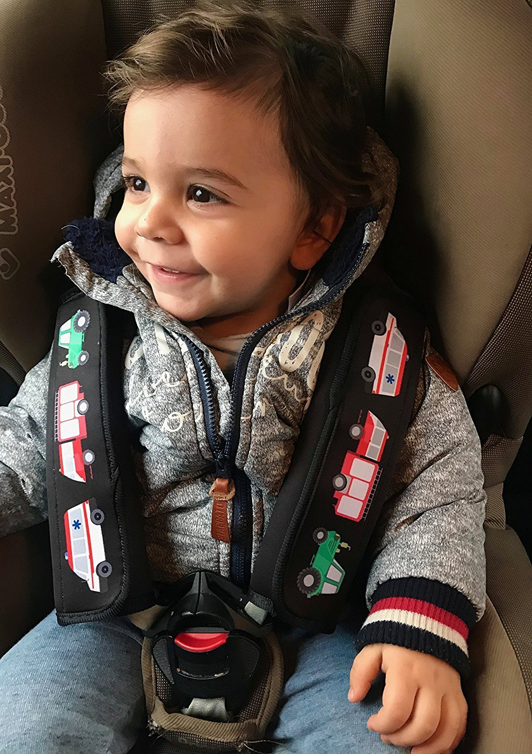 /by Heckbo 2x Car Seat Belt Cover Shoulder Pad Car Seat Belt Shoulder Pad Pads For Boys//Men With Fire Brigade Tractor Ambulance/