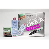 L'Oreal Paris Beauty Like A Boss Micellar, Face Mask & Mascara Gift Set For Her