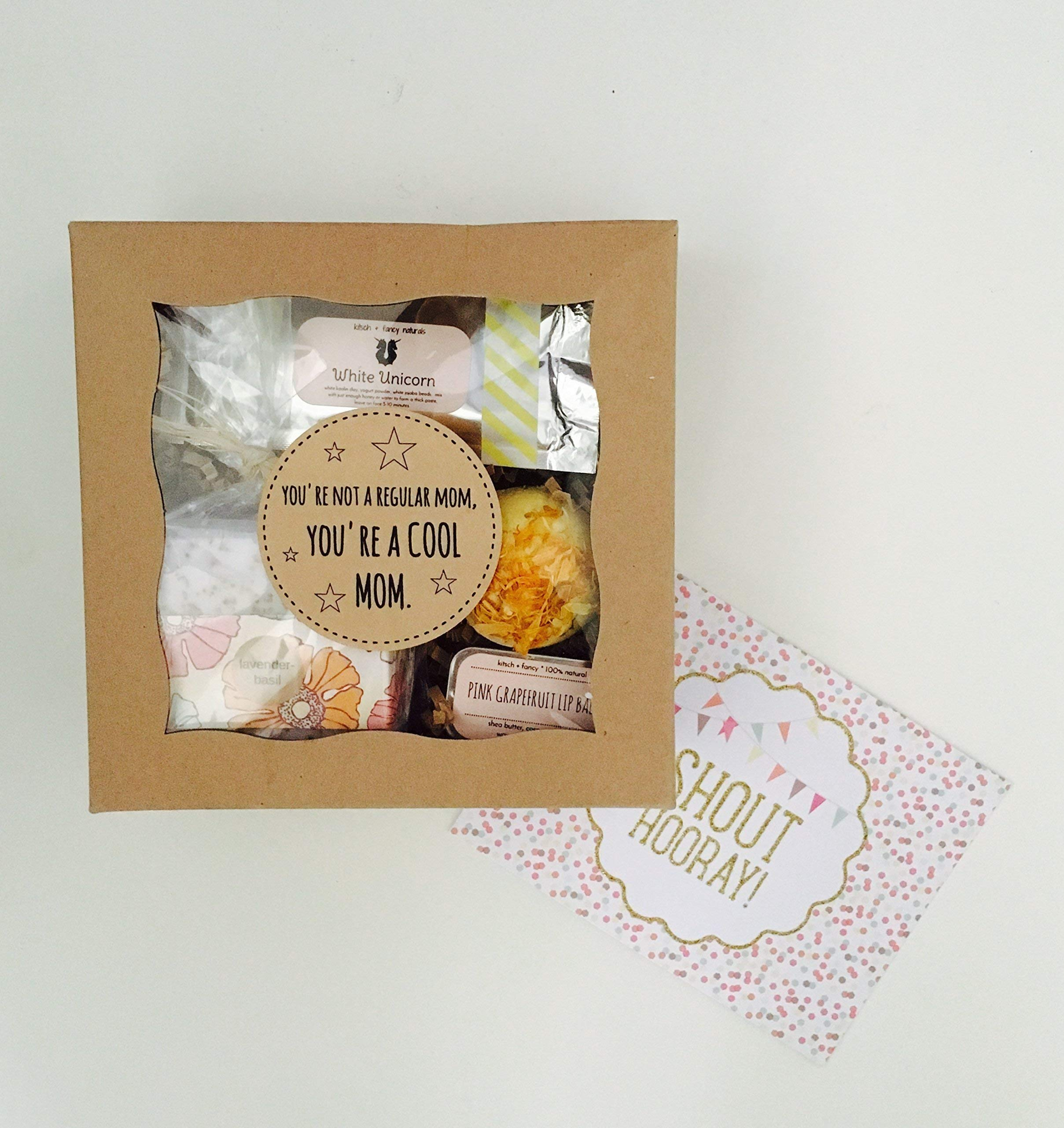 You're not a regular mom, you're a cool mom: Gift box for mother's day or New Mom Gift Set